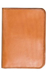 United By Blue Leather Passport Holder Brown Tan
