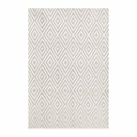 Dash And Albert Diamond Indoor Outdoor Rug Platinum White Neutral