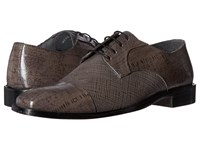 Stacy Adams Gatto Leather Sole Cap Toe Oxford Gray Men's Lace Up Cap Toe Shoes