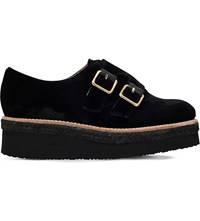 Carvela Loaded Velvet Flatform Shoes Black