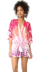 Young Fabulous And Broke Ashley Romper Hibiscus Earthquake