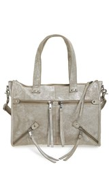 Day And Mood Wilma Leather Satchel Metallic Silver