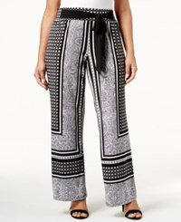 Inc International Concepts Plus Size Tie Waist Palazzo Pants Only At Macy's Carrara Marble