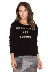 Milly Good Girls Cashmere Sweater Black