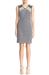 Missoni Zigzag And Chevron Knit Sheath Dress Black White