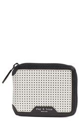 Rag And Bone Women's Rag And Bone Perforated Leather Zip Around Wallet
