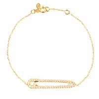 Latelita London Safety Pin Bracelet Gold White Gold Yellow
