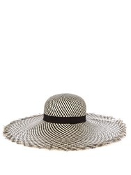 Benoit Missolin Ubud Straw Hat Black White