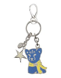 Tod's Small Leather Goods Key Rings Women Blue