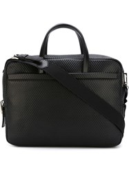 Z Zegna Textured Laptop Bag Black