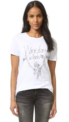 Zoe Karssen Weekend Warrior Loose Fit Tee Optical White
