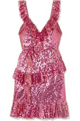Needle And Thread Scarlett Sequined Tulle Mini Dress Pink