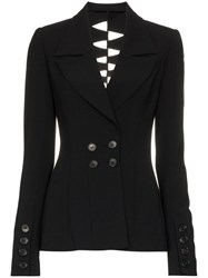 Kitx Loveable Spine Cut Out Jacket Black