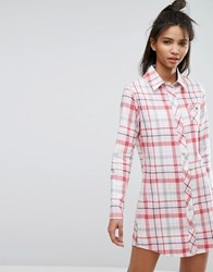 Esprit Check Night Shirt Red