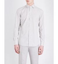 Slowear Regular Fit Checked Cotton Shirt Ivory Blue