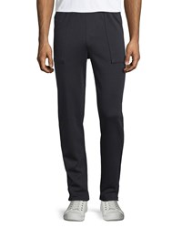 Vince Garment Wash Cotton Pull On Pants Black Women's