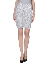 Elisabetta Franchi Skirts Knee Length Skirts Women White