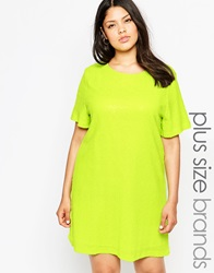 Truly You Sequin T Shirt Dress Lime