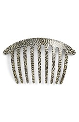 France Luxe Handcrafted French Twist Comb Metallic Opera Silver