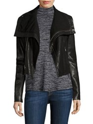 Veda Max Classic Leather Moto Jacket Black