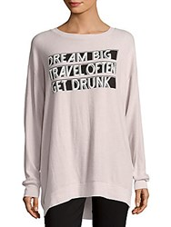 Wildfox Couture Front Graphic Sweater Lilac