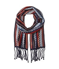 Smartwool Pine Lake Chevron Scarf Ink Heather Scarves Navy