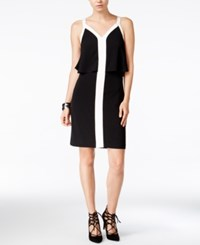Bar Iii Colorblocked Popover Dress Only At Macy's Deep Black