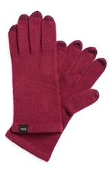 Women's Echo 'Touch All Over' Tech Gloves Purple Berry