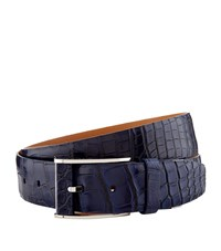 Zilli Crocodile Skin Belt Blue