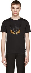Fendi Black Crystal Monster T Shirt