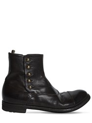 Officine Creative Leather Boots With Side Buttons Black