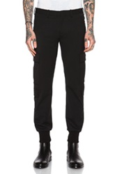 Neil Barrett Rib Cuff Skinny Cargo Pants In Black