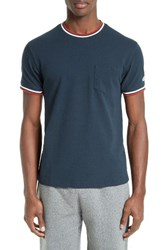 Todd Snyder Men's Tipped Pique T Shirt