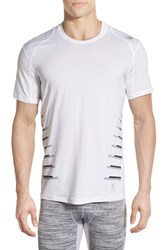 Men's Nike Cool Speed Vent Fitted Training T Shirt White Matte Silver Wolf Grey