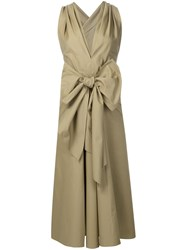 Tome Bow Detail Dress Brown