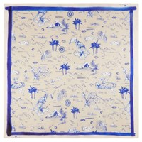 Klements Square Scarf In Polynesia Print Blue