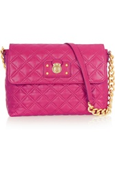 Marc Jacobs The Single Large Quilted Leather Shoulder Bag Purple