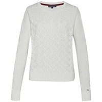 Tommy Hilfiger Esana Cable Sweater White
