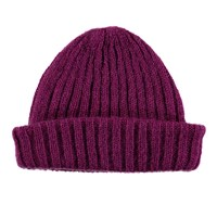 Lowie Mohair Ribbed Fisherman's Beanie In Magenta