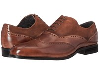 Stacy Adams Stanbury Wingtip Oxford Cognac Men's Lace Up Wing Tip Shoes