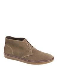 Johnston And Murphy Mcguffey Suede Chukka Sneakers Taupe