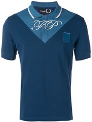 Fred Perry Raf Simons X Two Tone Polo Shirt Blue
