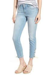 Mavi Jeans Adriana Laced Ankle Skinny Bleach Summer Lace