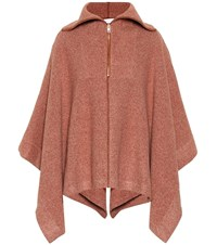 See By Chloe Ribbed Cotton Blend Cape Brown