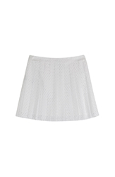 Mcq By Alexander Mcqueen Perforated Cotton Mini Skirt