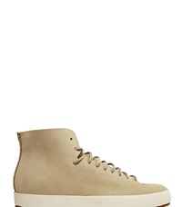 Feit Hand Sewn High Leather Sneaker Grey