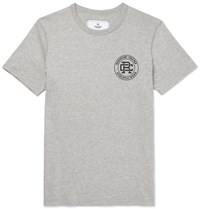Reigning Champ Printed Cotton Jersey T Shirt Gray