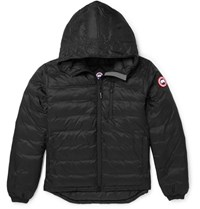 Canada Goose Lodge Packable Quilted Ripstop Shell Hooded Down Jacket Black