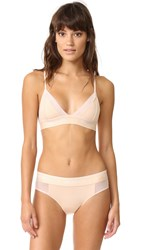 Wildfox Couture Mesh Triangle Bra Peachy Keen