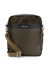 Robert Graham Fisher Camo Print Calf Hair And Faux Leather Shoulder Bag Olive